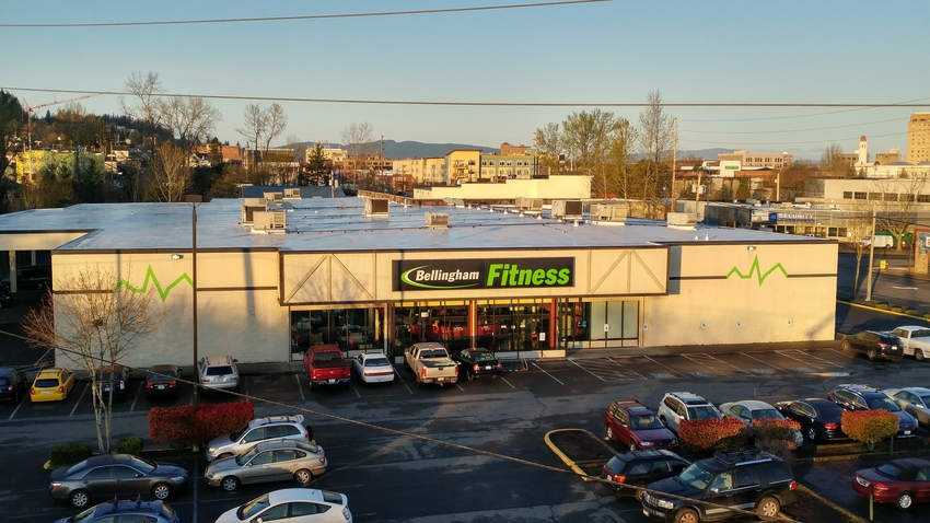 Drone Picture of Bellingham Fitness Front