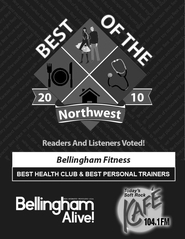Bellingham Fitness Best Health Club 2010 Award